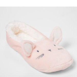 Shoes - Women's pull on bunny slipper socks
